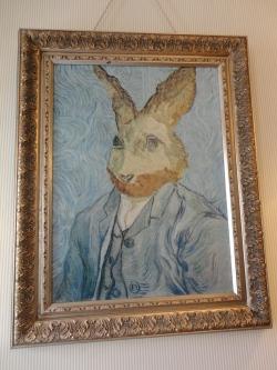 Self portrait by Vincent Van Bunny