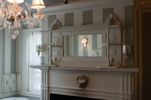 Original fireplaces grace the tea rooms.