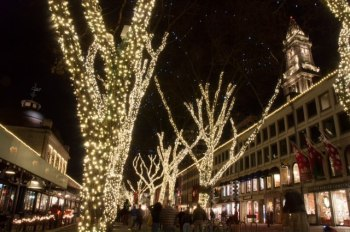 Lights at Faneuil Hall by Faneuil Hall