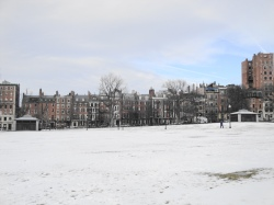 Beacon Hill overlooks Boston Common