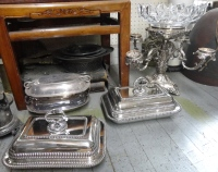 XX antique shop with numerous silver items