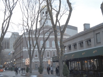 Fanueil Hall and plaza have many good restaurants and shops