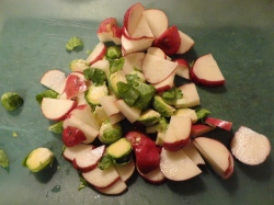 diced red potatoes & sprouts