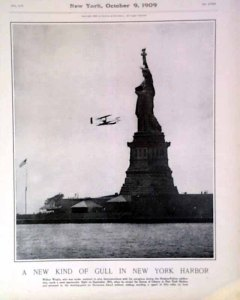 Harper's Weekly. Wilbur circles Lady Liberty