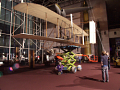 Original Wright Flyer at Smithsonian being positioned