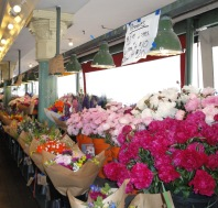 One of the flower vendors at Pikes Mkt. Seattle