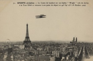 The Wright Flyer was the first aircraft to soar above Paris, flown by French pilot Comte Sports Aviation cover story