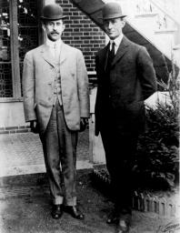 The Wright Brothers (Orville on right)