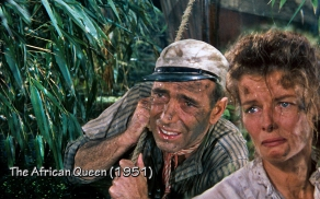 Bogey and Hepburn in African Queen. I'm right with you girlfriend!