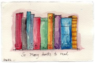 Colorful books by sharonsalu.wordpress.com