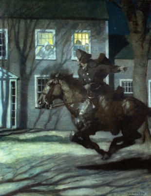 PAUL REVERE'S RIDE by N.C. Wyeth